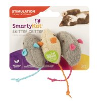(3 Pack) SmartyKat Skitter Critters Mice Catnip Cat Toys, 3 Count