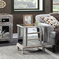 Convenience Concepts Gold Coast Vineyard 3-Drawer Mirrored End Table