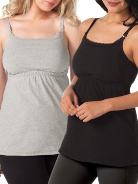 Maternity Babydoll Nursing Tank with Full Sling 2 Pack, Style L317
