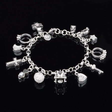 CLEARANCE - My Charmed Life - Silver Charm Bracelet - Bracelet Charms Silver