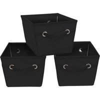 Mainstays Medium Canvas Bins, 3-Pack