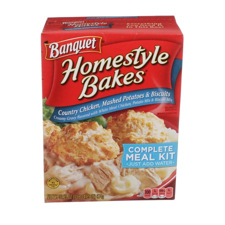 Banquet Homestyle Bakes Country Chicken, Mashed Potatoes, and Biscuits Meal Kit, 30.9 Ounce](Fiesta Banquet)
