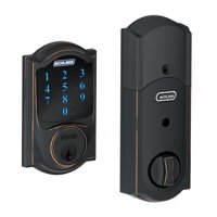 Schlage BE469NX-CAMRF Manufacturer Refurbished Connect Camelot Touchscreen Deadbolt with Built-in Alarm and Z-Wave Technology