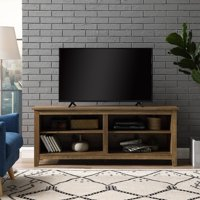 """Wood TV Media Storage Stand for TV's up to 60"""", Multiple Finishes"""