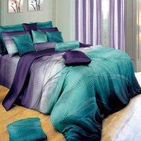 Swanson Beddings Twilight-P 3-Piece Bedding Set: Duvet Cover and Two Pillow Shams (Full)
