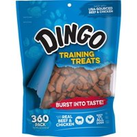 Dingo Soft & Chewy Beef & Chicken Training Treats, 360-Count