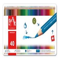 Caran d'Ache, Fancolor Water-Soluble Colored Pencils, 40 Colors