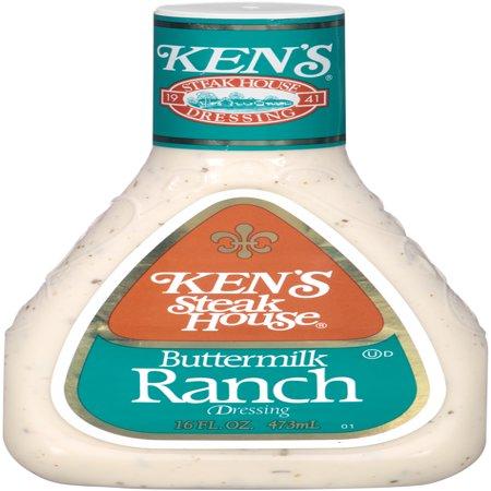 (3 Pack) Ken's Steakhouse Dressing, Buttermilk Ranch, 16 Fl Oz (Buttermilk Ranch)