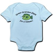 CafePress - Great Grandpa Says I'm A Keeper! Baby Onesie - Baby Light Bodysuit