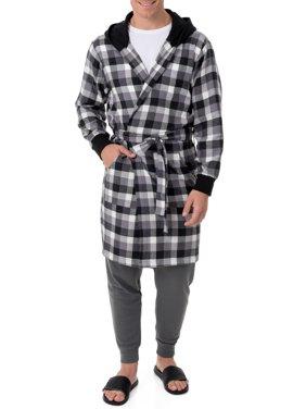 Fruit of the Loom Men's Flannel Hooded Robe