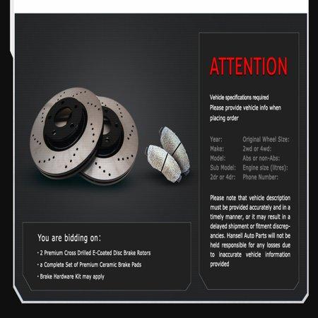 [Rear Cross Drilled E-Coated Brake Rotors Ceramic Pads] Fit 11 12 Kia Optima - image 1 of 2