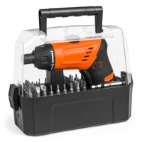 Best Choice Products 3.6V Cordless Power Electric Screwdriver w/ Charger, LED Light, 50 Bits, Twist Handle, Carry Case