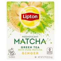 (4 Boxes) Lipton Magnificent Matcha Green Tea Bags Ginger 15 ct