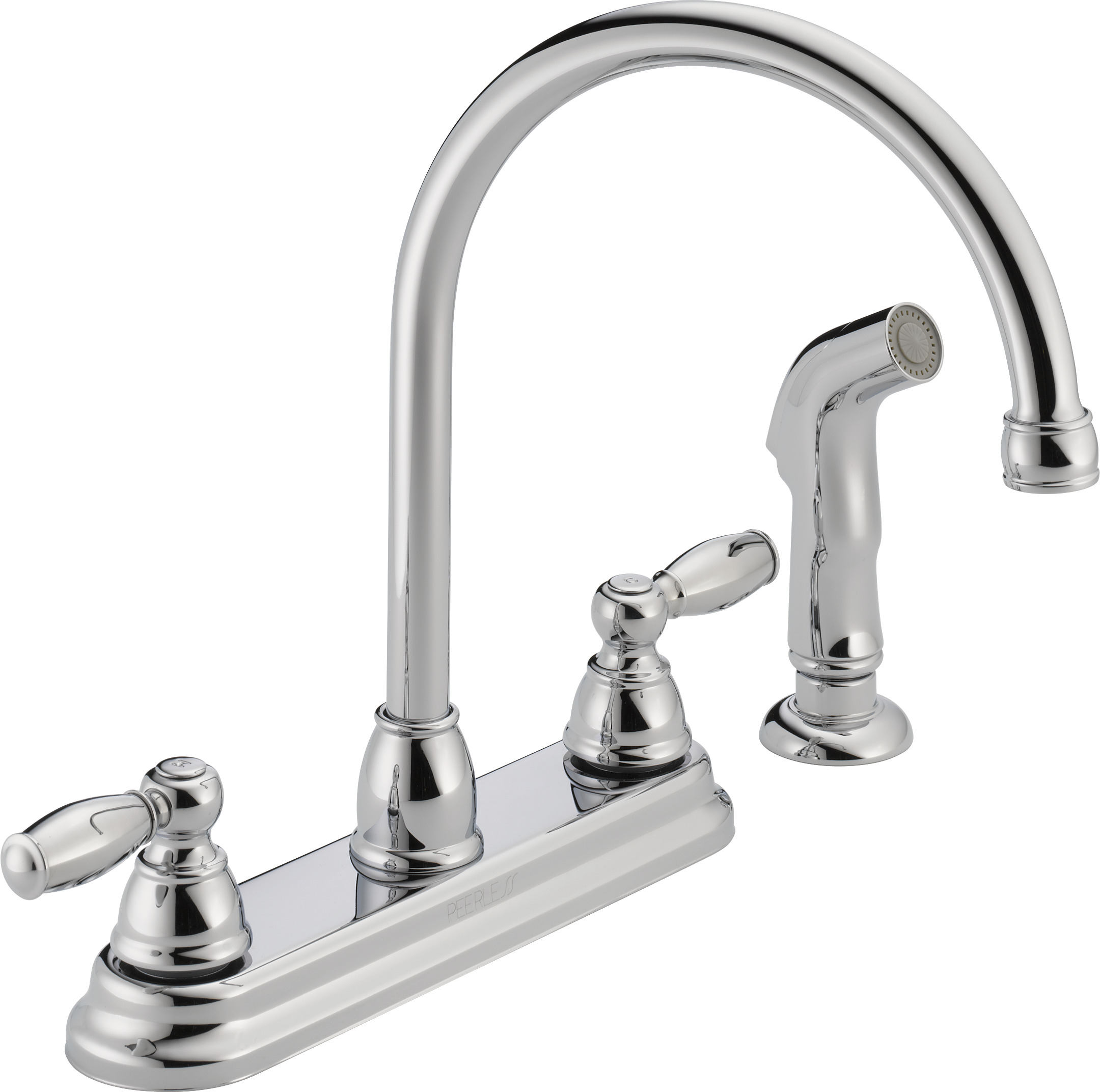 Peerless Apex Two Handle Kitchen Faucet with Side Sprayer in Chrome P299575LF-W  sc 1 st  Walmart & Peerless Kitchen Faucets