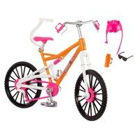 Barbie Mountain Bike with Doll Helmet, Sunglasses & Water Bottle