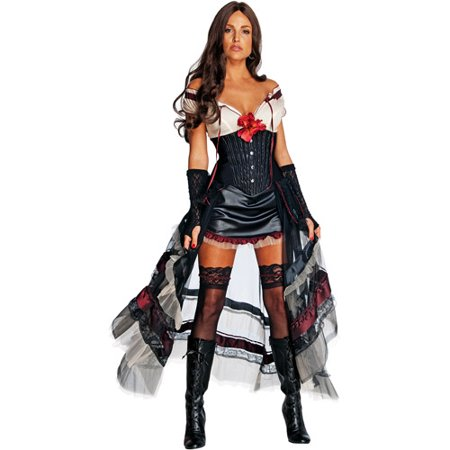 Jonah Hex Lilah Red Adult Halloween Costume](Red And Black Burlesque Costume)
