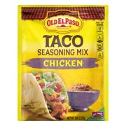 (4 Pack) Old El Paso Chicken Taco Seasoning Mix, .85 oz Packet