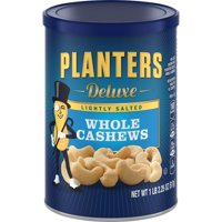 (2 Pack) Planters Deluxe Lightly Salted Whole Cashews, 18.25 oz Can