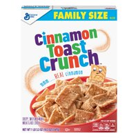 (2 Pack) Cinnamon Toast Crunch, Breakfast Cereal, Family Size, 19.3 oz Box
