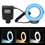 Yosoo LED Ring Light, Portable LED Ring Flash Battery Operated Fill Light with Color Filters