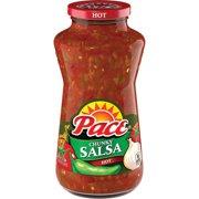 Pace Chunky Salsa, Hot, 24 oz. Jar