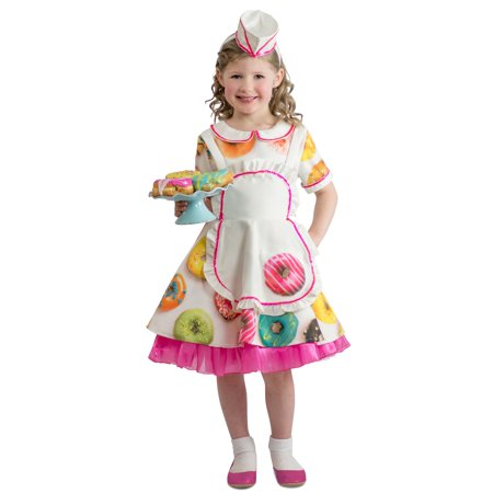 Donut Waitress Child Costume (Kids Donut Costume)
