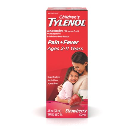 Children's Tylenol Pain + Fever Relief Medicine; Strawberry; 4 fl.