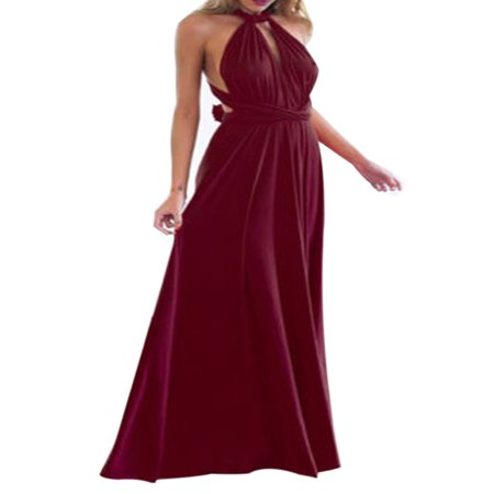 Women Evening Dress Convertible Multi Way Wrap Wedding Bridesmaid Formal Long Maxi Dress Cocktail Party Prom Ball Gown (Bridesmaid Dress Prom Gown)