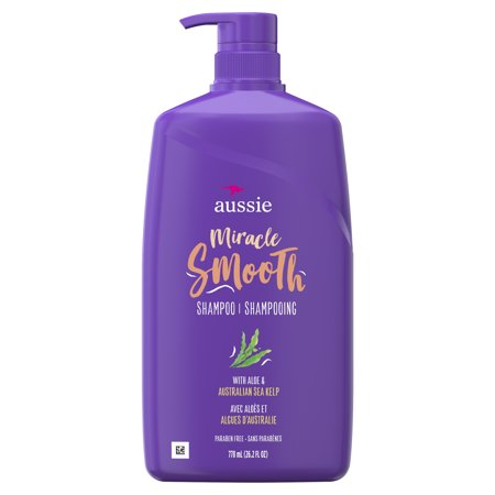 Aussie Paraben-Free Miracle Smooth Shampoo w/ Aloe & Kelp For Frizzy Hair, 26.2 fl (Best Shampoo For Thin Dry Frizzy Hair)
