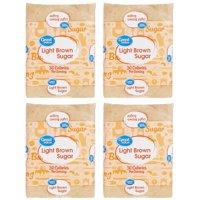 (2 pack) Great Value Light Brown Sugar, 2 Lb