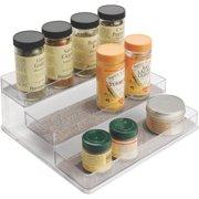 InterDesign Twillo 3-Tier Spice Rack Organizer in Metallico/Clear