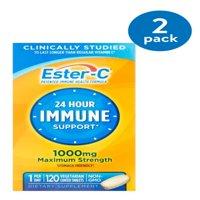 (2 Pack) Ester-C Vitamin C 1000 mg Vitamin Supplement 120 ct