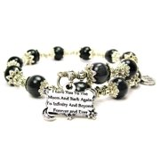 Chubby Chico Charms I Love You To The Moon And Back To Infinity And Beyond Cat's Eye Wrap Charm Bracelet in Black