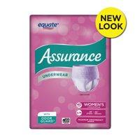 Assurance Underwear, Women's, Size S/M, 40 Count