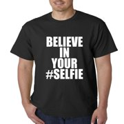 Believe In Your #Selfie Emoji Mens T-shirt