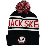 49e06b7e96012 The Nightmare Before Christmas Jack Skellington Knit Cuff Beanie with Pom