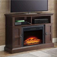 "Whalen Media Fireplace for Your Home Television Stand fits TVs up to 55"" Multiple Finishes"
