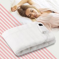 Costway Electric Heated Blanket Low-Voltage 5 Temperature Modes 8H Timer UL,Full Size/Queen Size/Twin Size