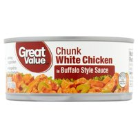 (3 Pack) Great Value Buffalo Style Chunk White Chicken, 10 oz