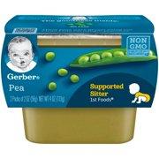 Gerber 1st Foods Pea Baby Food, 2-2 oz. Tubs
