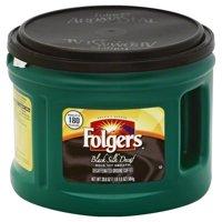 Folgers Decaf Black Silk Ground Coffee, 20.6 Ounces