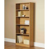 """Orion 72"""" 5-Shelf Wide Bookcase, Oak"""