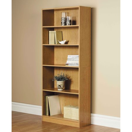 orion 72 5 shelf wide bookcase oak walmart com rh walmart com