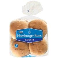 Great Value Hamburger Buns, 12 oz