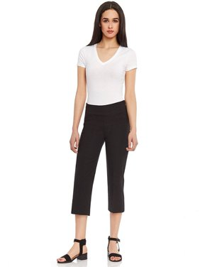 Women's Pull-On Comfort Fit Capri Dress Pants