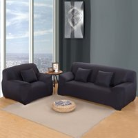 Dilwe Stretch Seat Chair Covers Couch Slipcover Sofa Loveseat Cover 7 Colors/4 Size Available for 1 2 3 4 People Sofa