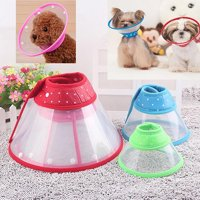 Girl12Queen Puppy Pet Dog Cat Comfy Cone Neck Collar Anti-Bite Medical Recovery Protection