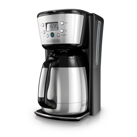 BLACK+DECKER 12-Cup* Thermal Programmable Coffeemaker, Stainless Steel, CM2036S Decker Programmable Coffee Makers