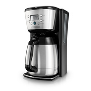BLACK+DECKER 12-Cup* Thermal Programmable Coffeemaker, Stainless Steel, CM2036S