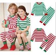 67957a36ef FASHION Christmas Toddler Kids Baby Girl Boy Striped Pajamas Sleepwear  Nightwear Clothes
